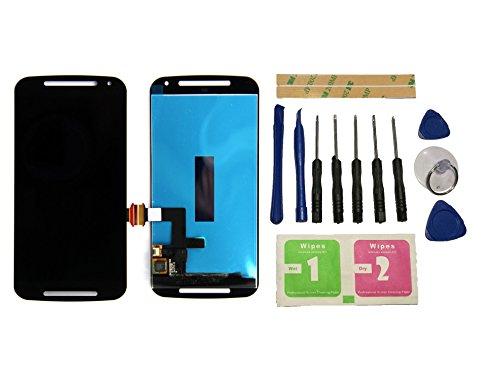 Flügel für Motorola Moto G2 XT1063 XT1068 XT1069 Display LCD Ersatzdisplay Schwarz Touchscreen Digitizer Bildschirm Glas Assembly (ohne Rahmen) Ersatzteile & Werkzeuge & Kleber