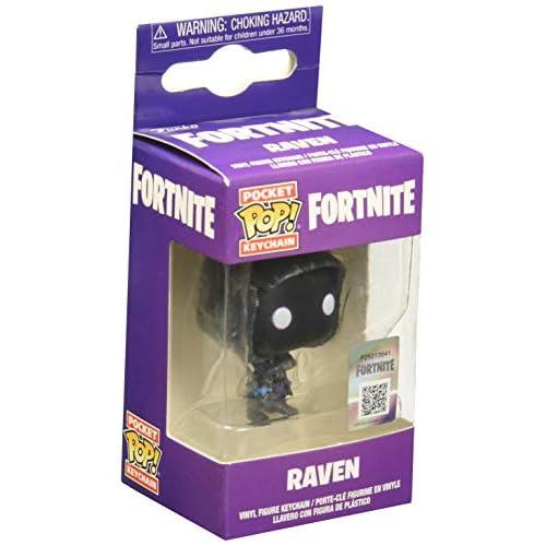 Funko Last Level- Portachiavi Pocket Pop FORTNITE: Raven, Multicolore 1