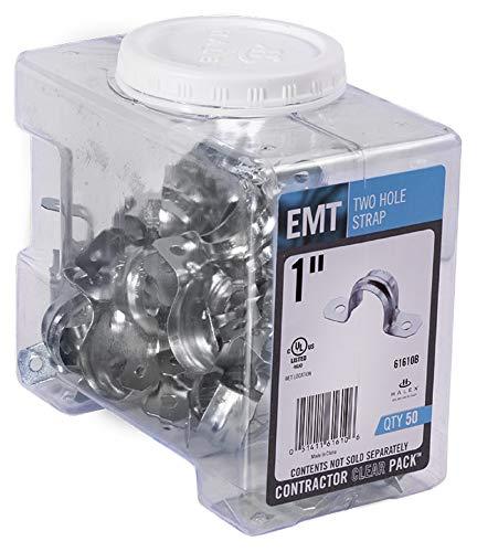 Halex, 1 in. Electrical Metallic Tube (EMT) 2-Hole Strap , 61610B, 50 per pack