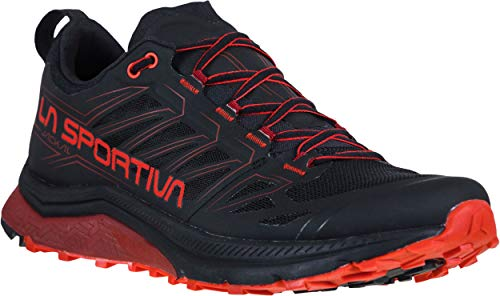 La Sportiva Mens Jackal Trail Running Shoe, Black/Poppy, 46/12.5