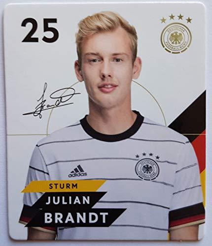 Rewe EM 2020 DFB - Sammelkarten - Normale - Nr. 25 - Julian Brandt - Plus 1 spezielle toysagent Sonderkarte