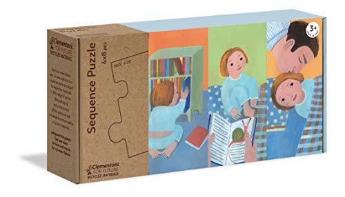 Clementoni - 16230 - Sequence Puzzle - Prima, Dopo, Poi - puzzle bambini 3 anni, gioco educativo, puzzle sequenza - Made in Italy - Play For Future, cartone 100% riciclato