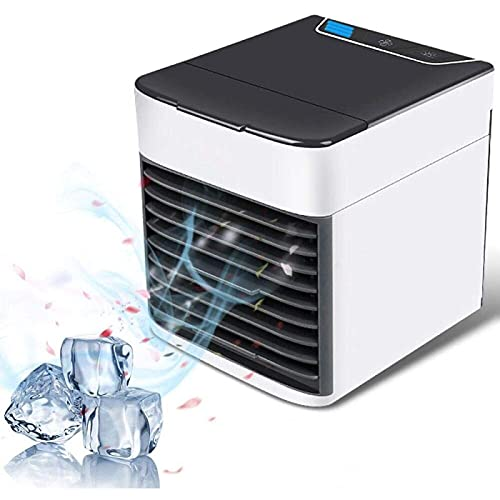 YANRU Ventilatore Ad Acqua, Facile da Pulire Condizionatori per Camper, 3 velocità Regolabili Condizionatore da Stanza - per Casa, Ufficio, Camera da Letto, Cucina
