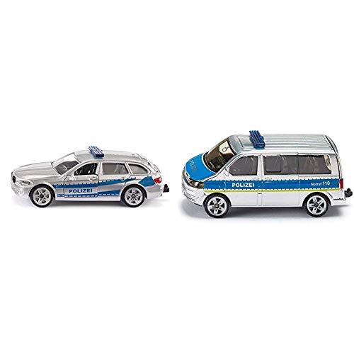 Siku 1401 - Streifenwagen (Sortiert nach Modellen: BMW und Volkswagen) & 1350 Polizei-Mannschaftswagen