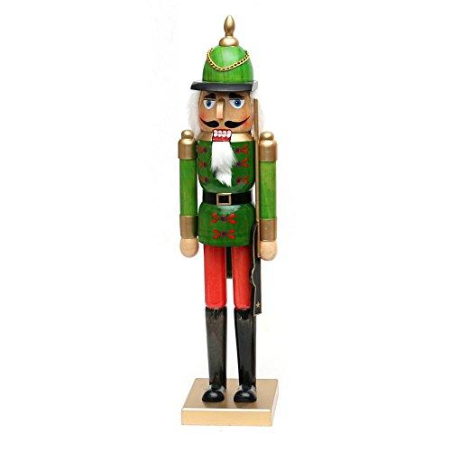 Dekohelden24 Wunderschöner Nussknacker Soldat, in grün, ca. 50 cm