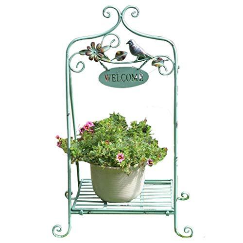 AWX Flower Staand bloemenstandaard van hout Planten u framesmeedijzer-wijnlesesevlossbloemenrek opslagrek raamdecoratie-tuin levensmiddelen-winkel-landhuisstijlinrichtingsvoorwerpen.