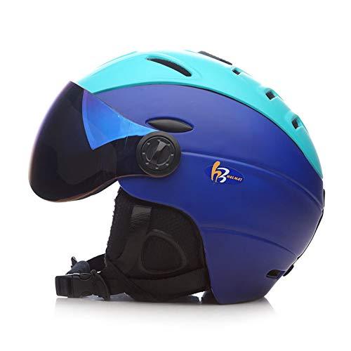 SKI Homme/Femme/Enfant Casque De, Lunettes Masque Snowboard Casque Moto Vélo Vélo Planche À roulettes De Motoneige Sport Sécurité,D,L