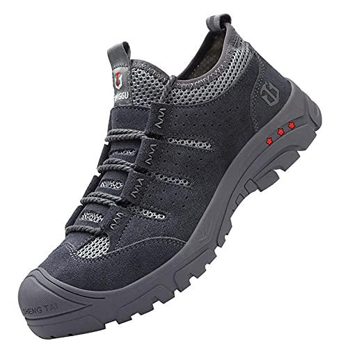 Respirable Punta de Acero Calzado,Zapatillas de Seguridad Zapatos de Trabajo Calzado de Trabajo Ligeros,Black▁44