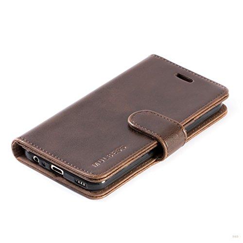 Mulbess Handyhülle für Huawei Nova 2 Hülle, Leder Flip Case Schutzhülle für Huawei Nova 2 Tasche, Vintage Braun - 4