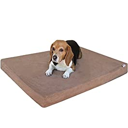 Dogbed4less Memory Foam Dog Bed | True Pressure-Relief Orthopedic, Waterproof Case and 2 Washable External Covers | 7 Sizes 2 Colors