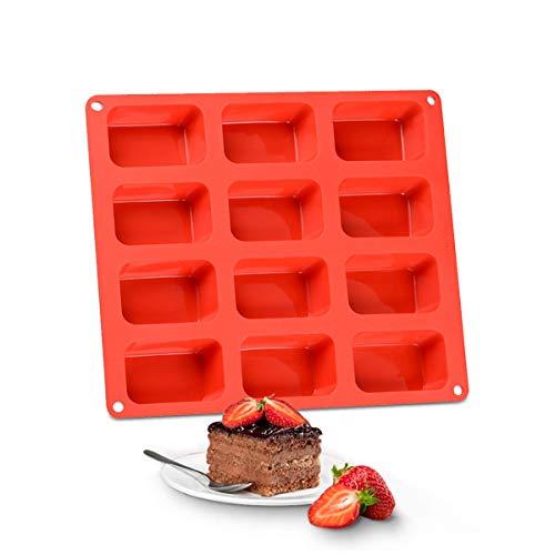Brownie Molde para hornear, bandeja de silicona para hornear, latas cuadradas y bandejas con rejillas antiadherentes para brownie, cheesecake, mini pastel y barra de chocolate