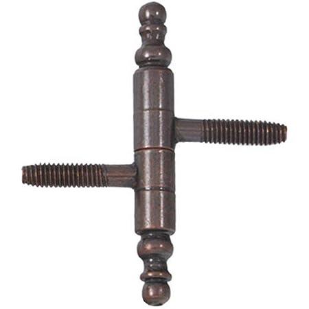 20 X Einbohrband Zierkopf Stahl vermessingt 9x65 mm Zierband Türband Scharnier