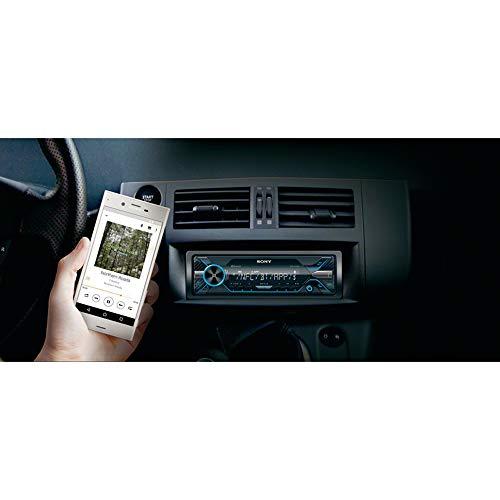 Sony DSX-A416BT - Autoradio multimédia avec technologie Bluetooth Dual (4 x 55 W, Commandes vocales compatible avec Siri Eyes et Android, USB, Dynamic Colour Illuminator), Noir