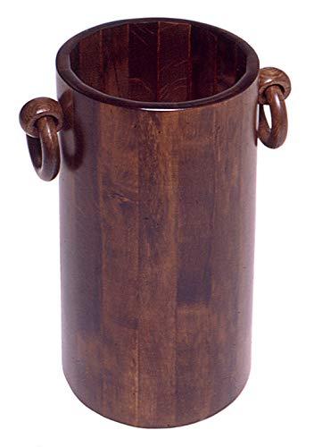 Relax y Design - Paragüero cilíndrico - Material madera de haya - Color nogal