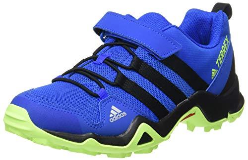 adidas Terrex AX2R CF K, Zapatillas para Carreras de montaña, Azul Tech Indigo Core Black Signal Green, 35.5 EU