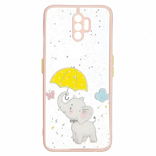 TYWZ Crystal Clear Bling Sparkly Case voor OPPO A5 2020, Glitter Glanzend Slanke Harde PC Drop Protection Shockproof…