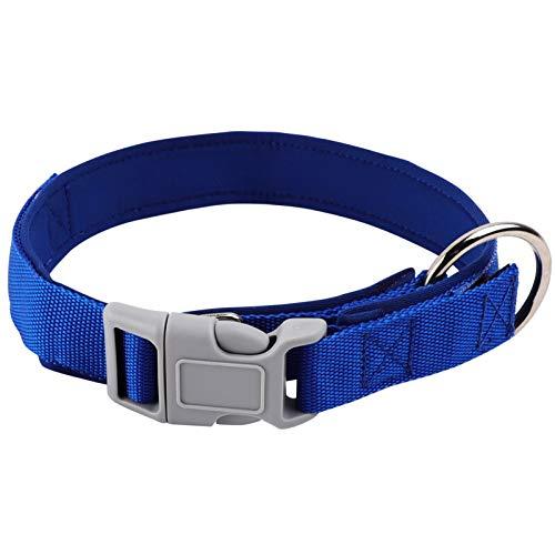 DEWEL Hundehalsband, Neueste 2 in 1 ZeckenHalsband für Hunde, Verstellbar Wasserdicht Reflex Halsband, Floh-und Zecken Prävention Halsbänder für Mittlere Große Hunde, Blue