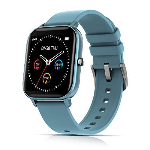 Reloj inteligente AMATAGE para hombres y mujeres, rastreador de actividad con monitor de ritmo cardíaco con control de música, reloj de fitness para teléfonos Android iPhone