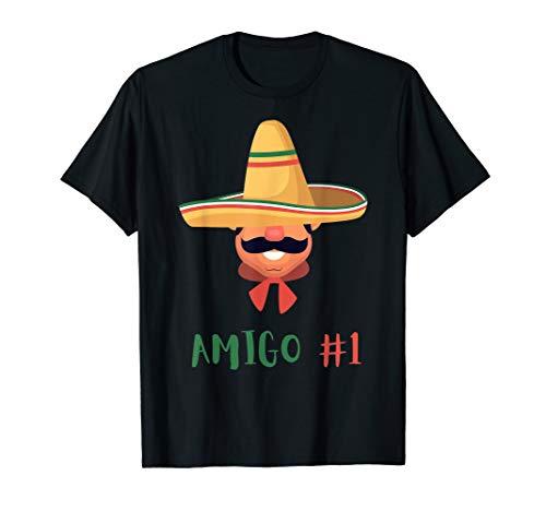 Funny Mexican Amigo #1 Group Matching DIY Halloween Costume T-Shirt