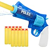 RAYNEL Dual Purpose Toy Guns Blaster Guns Water Guns Toy Revolver for Boys with 10 Soft Foam Darts for Kids, Teens, Adults (Blue)
