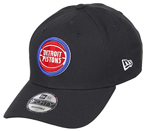 New Era Detroit Pistons 9forty Adjustable Snapback Cap NBA Essential Black - One-Size