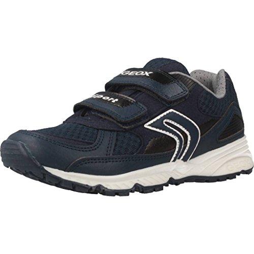 Geox Geox Jungen J Bernie C Low-top Sneaker, Blau (Navy), 34 EU