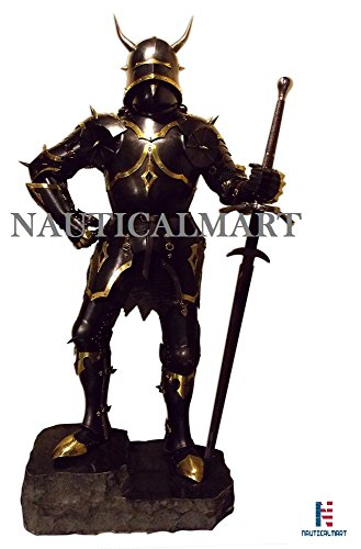 NauticalMart Medieval Wearable Knight Gothic Full Suit of Armor with Horns 15th Century Body Armour