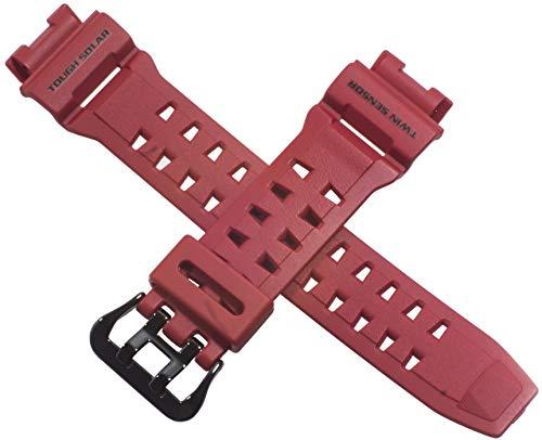 Casio - Cinturino originale per orologio GW-9200RDJ-4 G9200RD GW G 9200, colore: Rosso