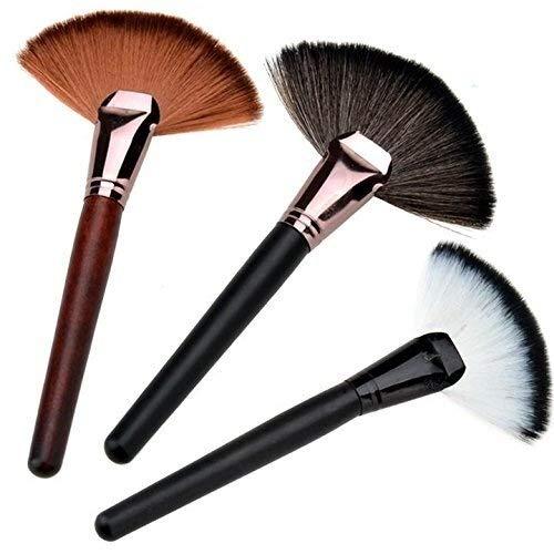 Brosse de maquillage Set Pinceau de maquillage for le visage, fond de teint en poudre en forme d'éventail (rouge) Cosmétiques Set Brosses (Color : Noir)