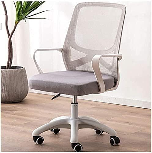 JYHZ Silla de oficina para ordenador de oficina, silla de oficina, ergonómica, ajustable y giratoria de tela de malla (color: verde) (color: gris)