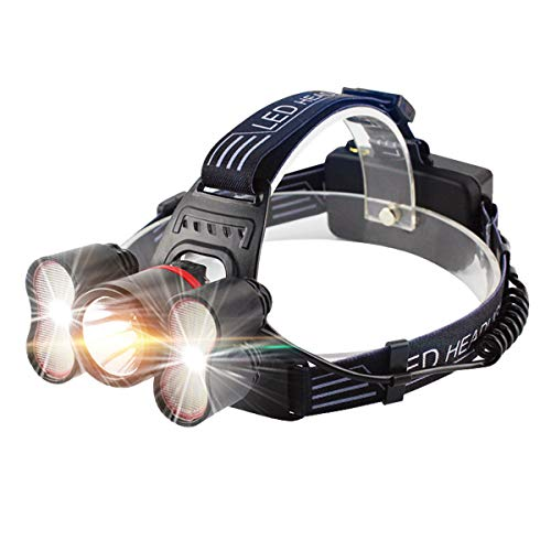 Head torch - Wesho Head light [Upgrade Version] Rechargeable headlamp, with...