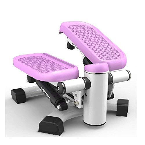 Agcwhls Office Stepper, Household Hydraulic Mute Stepper Aerobic Twister with Resistance Bands Multi-Function Pedal Indoor Cardio Training Exercise Machine Equipment Treadmill