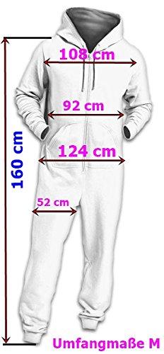 Crazy Age Kuscheliger Jumpsuit Sweat Overall Ganzkörperanzug mit Renntier- Eiskristalle Motive Relaxen Chillen (Bordeaux/Weiß) - 6