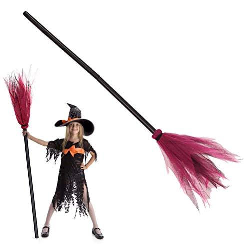 Willlly Hexenbesen Zauberbesen Halloween Deko Karneval Accessoire Länge Ca 89 Chic Cm Hexenzubehör Für Kinder Und Erwachsene Sale Home Täglich Gebrauch Produkt (Color : Rot, Size : Size)