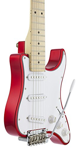 Traveler Guitar 6 String Travelcaster Deluxe (Candy Apple Red) Electric, Right Handed, (TCD CARMT)