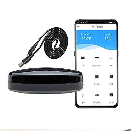 Smart IR-Fernbedienung, WiFi + IR-Steuerungs-Hub für Smart Home, kompatibel mit Alexa, eine für alle infrarotgesteuerten Heimgeräte TV, STB, Klimaanlage, DVD