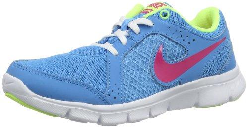 Nike Flex Experience 599344-401 Mädchen Laufschuhe Blau (Vivid Blue/Vivid Pink-Vivid Blue-Volt Ice) 36