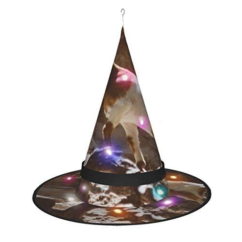 leyhjai Espacio marrn Cabra de montaa Colgante Iluminado Brillante Bruja Sombreros Accesorio de Disfraz de Halloween para Fiesta de Halloween Masqu