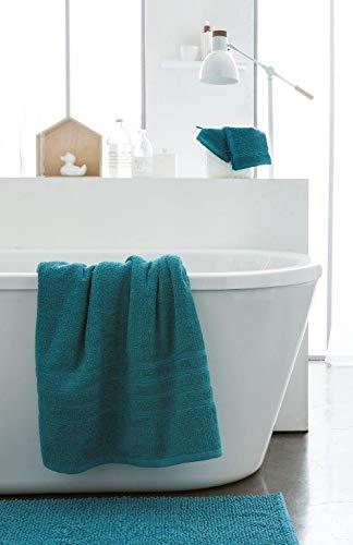 Today serviettes de Toilette 100% Coton, Turquoise, 90x50 cm