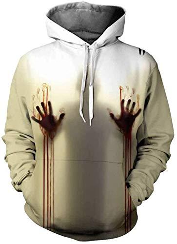 Sudadera unisex con capucha para hombre, divertida, 3D, de manga larga, con bolsillo, para Halloween, 2, XL (color: 3, talla: XL)