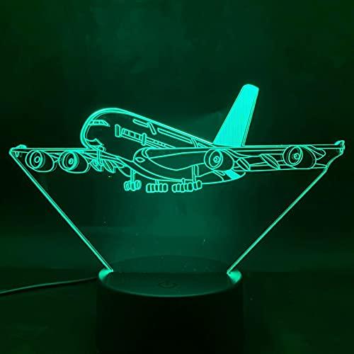 ZBHW Lámpara 3D Avión Presente para niños Control Remoto con Pila de batería LED Luz de luz Lámpara Dropshipping