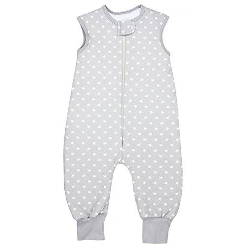 TupTam Baby Unisex Winter Schlafsack mit Beinen, Farbe: Sternchen Grau/Weiß, Größe: 116-122