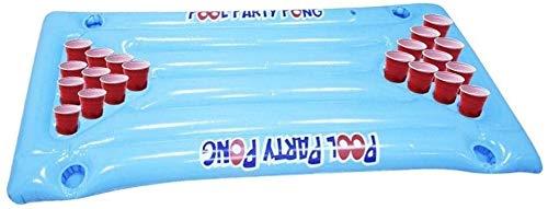 S-Chihir Giant Pool Aufblasbare Luftmatratze Bett - große Beer Pong Pool Float Aufblasbares Schwimm Bier-Pong-Tisch Wasser Pitching Spiel mit Social Schwimm Partei Pool Lounge Floß for Mä