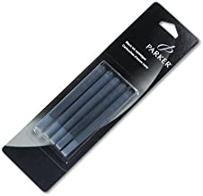 Parker : Refill Cartridge for Permanent Ink Fountain Pens, Black Ink, 5/pack -:- Sold as 2 Packs of - 5 - / - Total of 10 Each