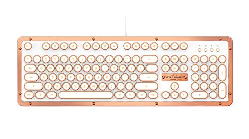 AZIO Retro Classic POSH mechanische USB Tastatur, vintage look mit deutschem Layout