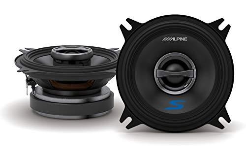 Alpine S-S40 S-Series 4-inch Coaxial 2-Way Speakers (pair)