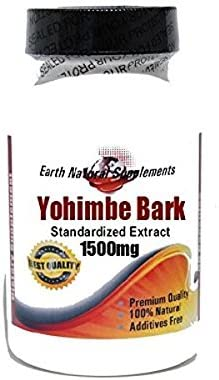 Yohimbe Bark New Orleans Mall Standardized Extract 1500mg Max 50% OFF Capsules 200 Nat 100%