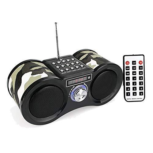 Lsmaa Radio portátil, receptor de radio FM estéreo con control remoto, reproductor de música MP3, forma de telescopio, apto para escuchar radio y reproducir música