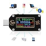 Type C USBテスタータイプcマルチメータ0.96インチIPSカラーLCDディスプレイ2ウェイデジタルPD電流計電圧計バッテリー充電 TC66C