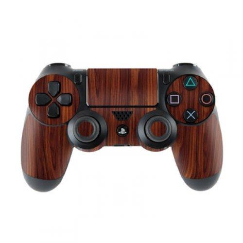 Skins4u Controller Aufkleber Design Schutzfolie Skin kompatibel mit Sony Playstation 4 PS4 Dark Rosewood